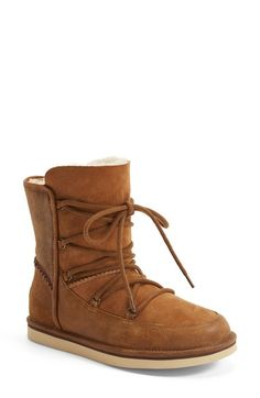 UGG® Australia 'Lodge' Water Resistant Lace Up Boot (Women) available at #Nordstrom
