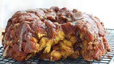 Give traditional monkey bread a tasty pumpkin twist with Pillsbury refrigerated pumpkin cinnamon rolls!