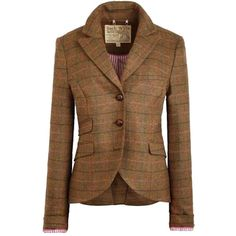 Pre-owned Jack Wills Austerberry Brown Check Blazer ($123) ❤ liked on Polyvore featuring outerwear, jackets, blazers, brown check, jack wills, jack wills blazer, brown jacket, tweed jacket and checkered blazer