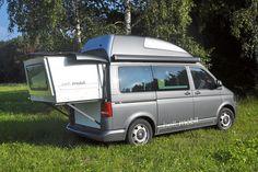 Bettmobil  Slideout Bed Box VW T5  Hochdach Camper Bus  Campervan  Rolf Hänle  Idee  Camping  Reisen  Travel