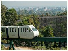 Chiang Mai Zoo Monorail offers a great way to enjoy the surrounding natural scenery within the zoo area. Chiang Mai Zoo is a 200-acre zoo located on Huay Kaew Road, Chiang Mai, Thailand. Giant pandas Lin Hui and Chuang Chuang arrived at the zoo on 12 October 2003, and are on 10-year loan from China. Their daughter Lin Bing was born at the zoo on 27 May 2009, and will be returned to China when she is two years old. Lin Bing is one of just a few giant pandas born in captivity outside of China.