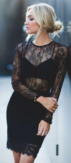 Little Black lace   Dress.