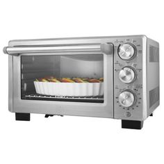 Cook food faster and more evenly with the Oster Designed for Life Convection Toaster Oven. The stylish stainless steel design effortlessly matches any kitchen decor, making this toaster oven a great idea as a housewarming or wedding gift. Stainless Steel Toaster, Brushed Stainless Steel, 6 Slice Toaster, Toaster Ovens, Log Home Interiors, Electric Oven, Electric Toaster