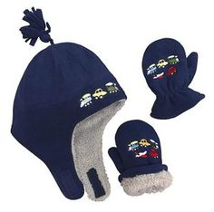 N'Ice Caps Little Boys and Baby Sherpa Lined Fleece Embroidered Hat Mitten Set Navy/Gray Sherpa Lining) Baby Sun Hat, Baby Hats, Baby Boy Accessories, Best Caps, Micro Fleece Fabric, Embroidered Hats, Cold Weather Outfits, Sherpa Lined, Sun Hats