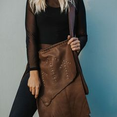 the 'maoli' flap bag in the softest brown leather.natural flap and arrow studs with a cross body strap. Leather Craft, Leather Bag, Brown Leather, Everyday Bag, Handmade Shop, Festival Fashion, Cross Body, Bespoke, Must Haves