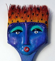 One of 18 new Brush Heads In my Etsy shop.  Search ginnypiechstreet.