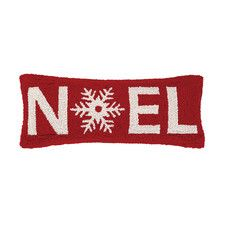 Noel Christmas Hook Wool Throw Pillow
