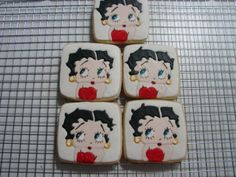 Betty Boop Cookies -                Made these with some leftover dough. something I've wanted to try and finally had the time to do it. NFSC with RI