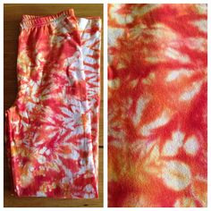 TIE DYE | FIRE | Pants Leggings Tights | Hippy Pixie Fae Tribal | Tie Dye | Upcycled Clothing | Full Length. on Etsy, £15.00