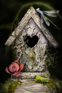 Birdhouse - So Shabby Chic !
