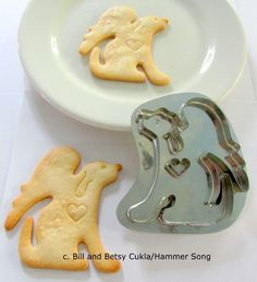 B.CUKLA/HAMMER SONG DOG WITH ANGEL WINGS COOKIE CUTTER/TIN/HANDMADE/LIMITED