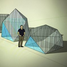 #flhytte A collapsible cabin of polycarbonate