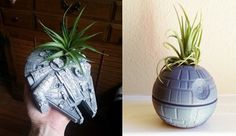 Death Star And Millennium Falcon Star Wars Planters | Nerd Approved - News For Nerds
