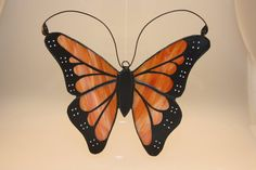 Stained Glass HandPainted Monarch Butterfly by monarchglass