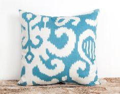 Aqua Living room update pillows