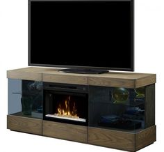 Classic Flame Beauregard Media Center Electric Fireplace w/Curved ...