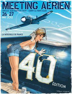 Romain Hugault - Illustrator from France - Girls and Aviation