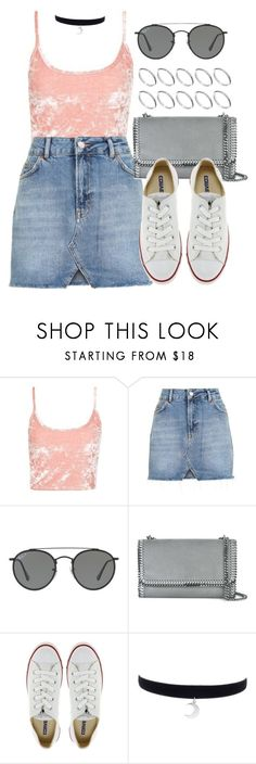 """Sin título #12252"" by vany-alvarado ❤ liked on Polyvore featuring Topshop, Ray-Ban, STELLA McCARTNEY, Converse and ASOS"