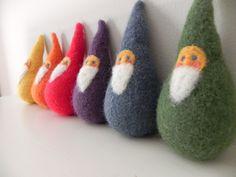 Plush Rainbow Gnome Family Play Set
