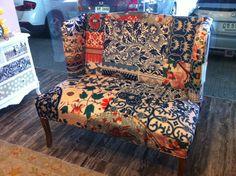 Bali inspired decor sofa