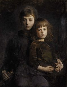 Abbott Anderson Thayer - Brother and Sister -oil on canvas - 1889 -