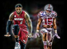 """LeBron James / Ezekiel Elliott """" Zeke """""""