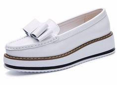 Butterfly Knot Platform Loafer *White or Black