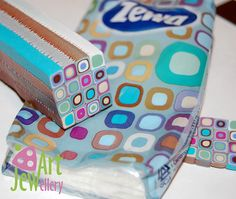retro cane by Jewellery_Art seemingly inspired by a pack of tissues!