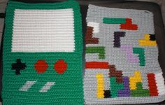 Crochet Game Boy And Tetris Pot Holders - for the gamer geeks in your life