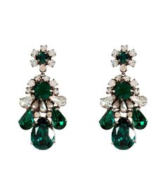 emerald green things | Emerald Green Crystal DS Earrings | Women's Dress