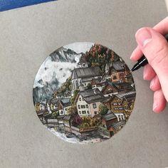 Hallstatt Austria by Phoebe Atkey