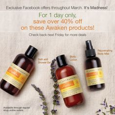 March MADNESS with Arbonne! Every Friday there will be a new amazing deal! Happy Friday :)