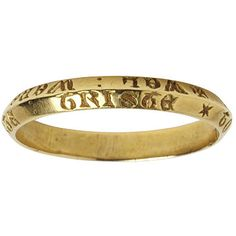Gold posy ring, the hoop inscribed in Lombardic capitals + WEL: WERE: HIM: YAT: WISTE: * TO: WHOM: HE: MIGTE: TRISTE., England, ca.1300. 'well for him who knows whom he can trust'