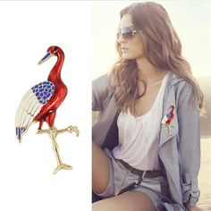 2017 Cartoon Unicorn Flamingo Pins Enamel  Icons Brooches For Women Fashion Broches Jewelry Red Crocodile Brooch #Affiliate