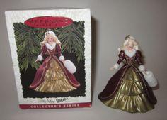 Hallmark Keepsake Ornament; Holiday Barbie.  1996.