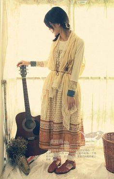The Polkadot Lady's dress