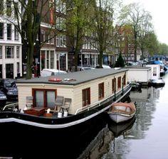 Hausboot- Amsterdam-Kanal