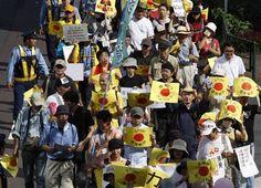 Miles de japoneses protestan por la reactivación de las centrales nucleares