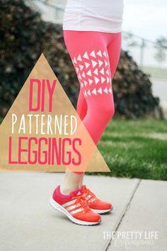 DIY Clothes Refashion: DIY Patterned Leggings/Yoga Pants