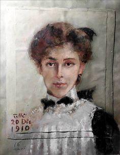 Maria Teresa Mazzei Fabbricotti · Autoritratto · 1910 · Ubicazione ignota