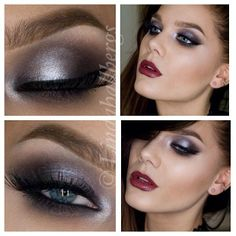 so pretty plum and silver smokey eye Linda Hallberg, Skin Makeup, Makeup Art, Beauty Makeup, Makeup Ideas, Fancy Makeup, Glamorous Makeup, Makeup Remover, Makeup Brushes
