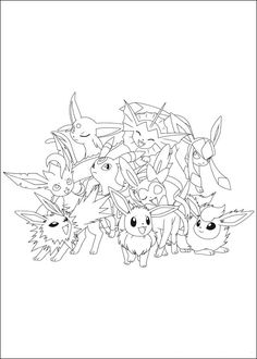 Pokemon Coloring Pages For Kids Print Free And Printable Book