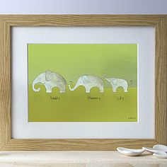Personalised Family Elephant Picture - Very cute website
