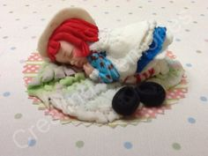 Raggedy Ann Baby Cake Topper by anafeke on Etsy, $18.00