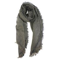 Men's Winter Houndstooth Long Light Warm Soft Fringe Oblong Scarf Ski Charcoal picclick.com