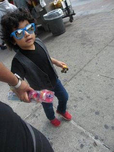 NYC toddler boy street Style #shades #TOMS