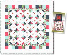 """""""So Many Snowmen"""" Free Quilt Pattern designed by Sew Cute Quilts from Clothworks brought to you by QuiltTherapy.com"""