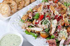 Gluten free Crispy Polenta Chicken Caesar Salad – Jamie Oliver's 15 minute meals Jamie's 15 Minute Meals, 15 Min Meals, Salad Recipes, Healthy Recipes, Healthy Food, Diet Recipes, Healthy Cooking, Healthy Meals, Chicken Recipes