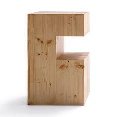 Mesita auxiliar de madera maciza de pino. + info en el link!