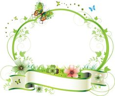 Summer fresh plant vector border Vector and PNG Page Borders Design, Border Design, Borders For Paper, Borders And Frames, Borders Free, Flower Backgrounds, Flower Wallpaper, Cute Frames, Picture Frames